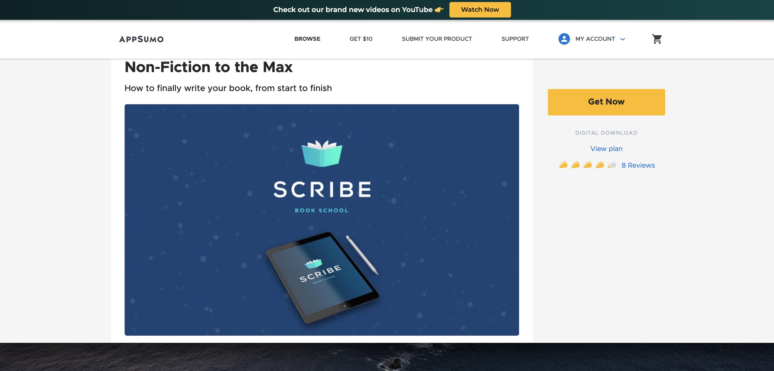 AppSumo screenshot of free content