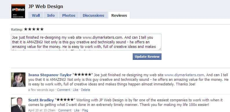 Tell Your Customers to Write a Review on Your New Facebook Fan Page Review Tab