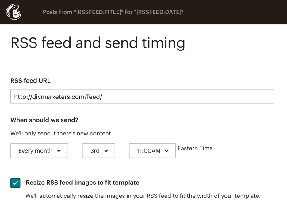 Setup an Email RSS Feed