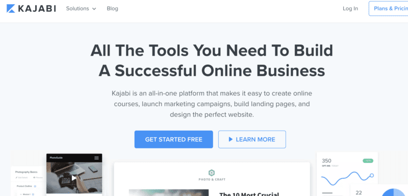 Kajabi online course toll with lead magnet