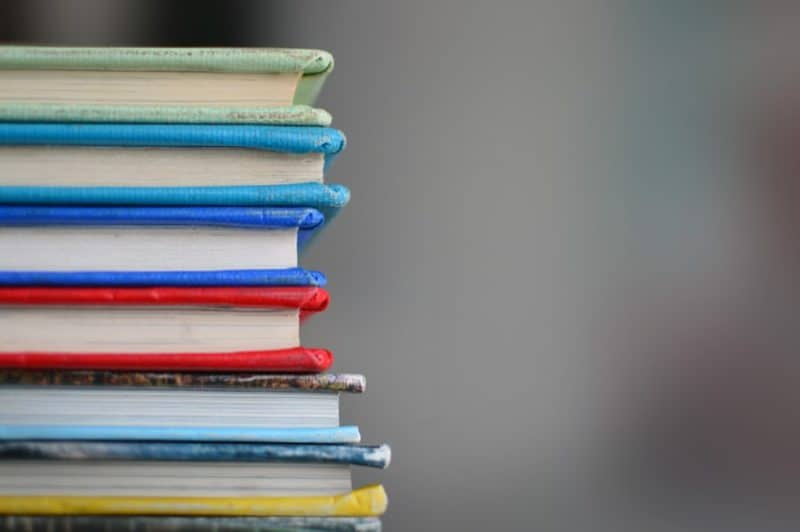 self-publishing book stack