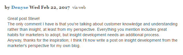 example of comment on blog