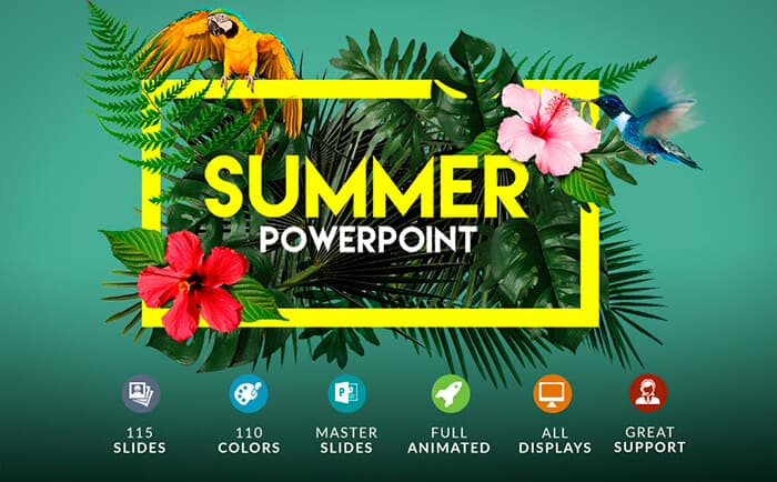 example of bright visual from template monster powerpoint template