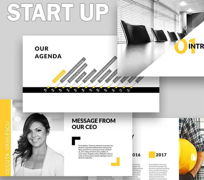 PowerPoint presentation start up template from template monster