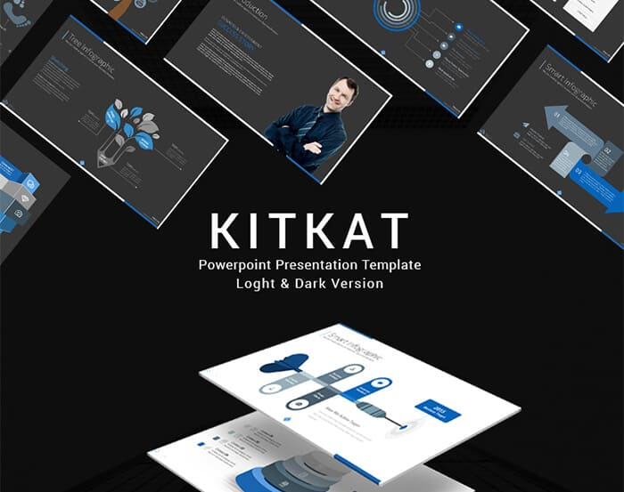 how to make a powerpoint presentation use Kit Kat template from template monster