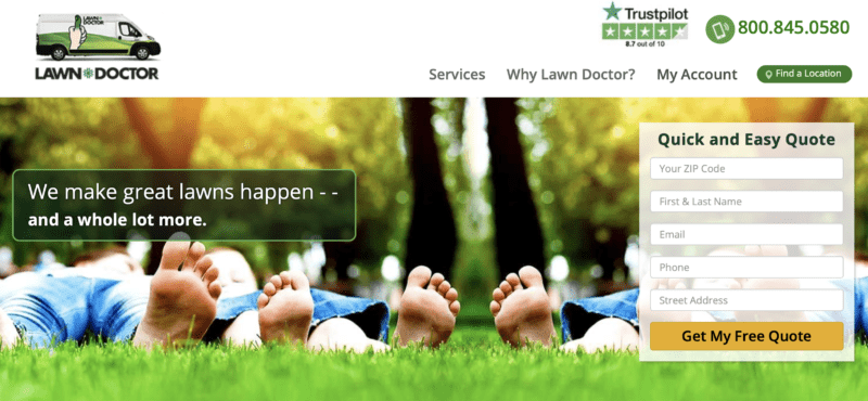 Lawn doctor as an example of a good USP