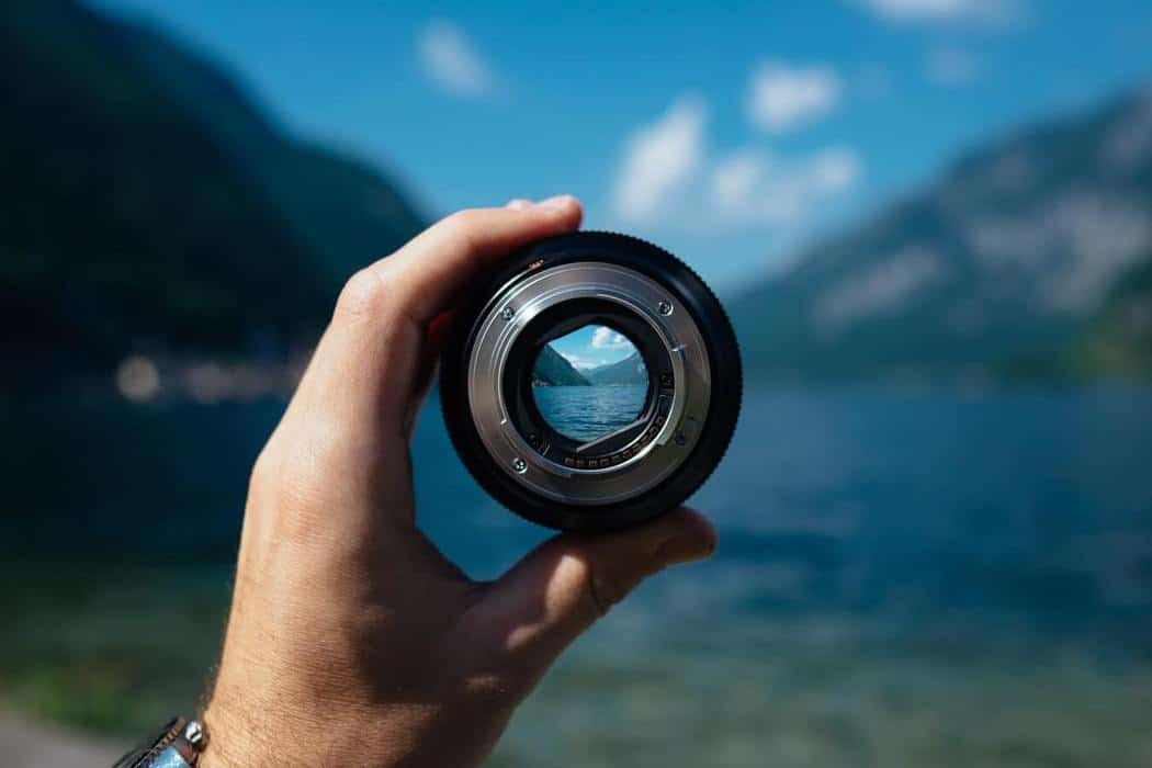 lens symbolizing opportunity in SWOT template