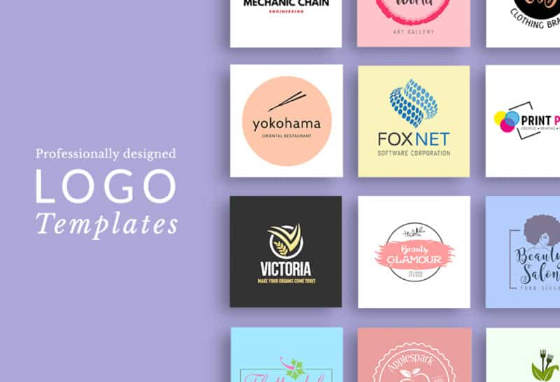 PosterMyWall logo design options