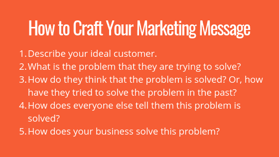 tips to craft your marketing message