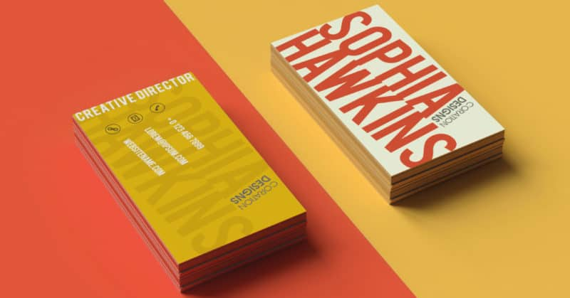 creative business card design color contrast example