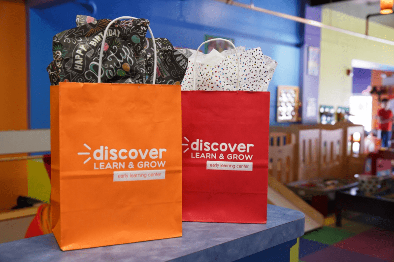 two branded bags as examples of brand communication
